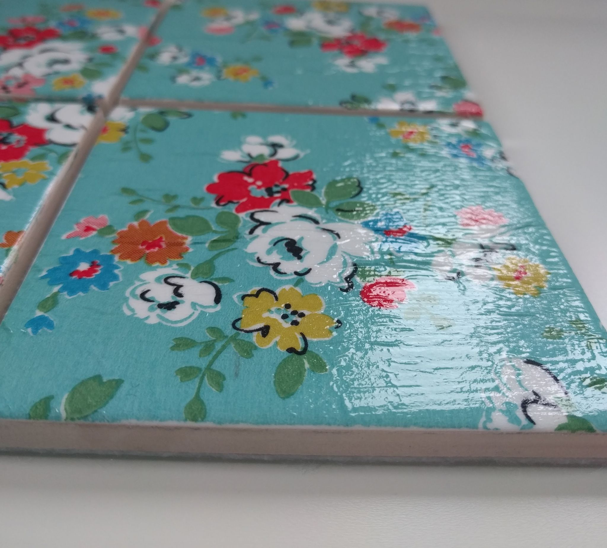 Ceramic coasters in cath kidston clifton rose blue 4 ceramic coasters in cath kidston clifton rose blue doublecrazyfo Images
